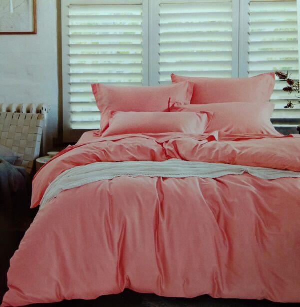 купить Постельное белье сатин люкс 40S однотонный 00001578 Розовый фото