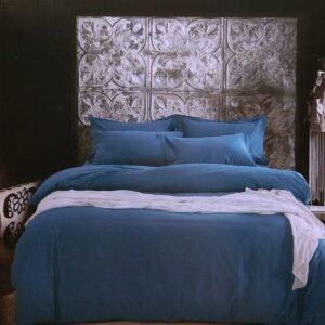 купить Постельное белье сатин люкс 40S однотонный 00001581 Синий фото
