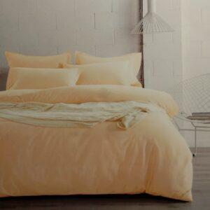 купить Постельное белье сатин люкс 40S однотонный 00001582 Желтый фото