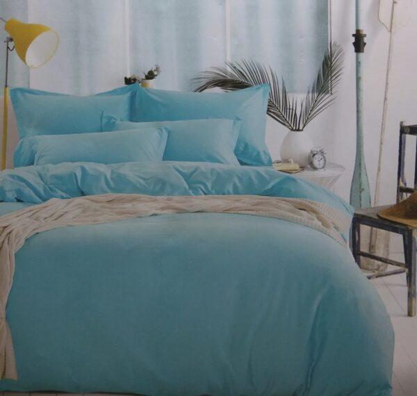 купить Постельное белье сатин люкс 40S однотонный 00001586 Голубой фото