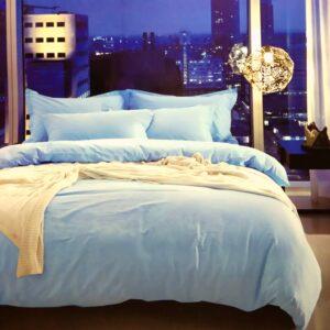 купить Постельное белье сатин люкс 40S однотонный 00001592 Голубой фото