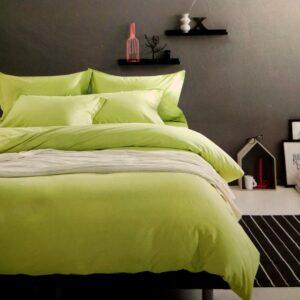купить Постельное белье сатин люкс 40S однотонный 00001593 Зеленый фото