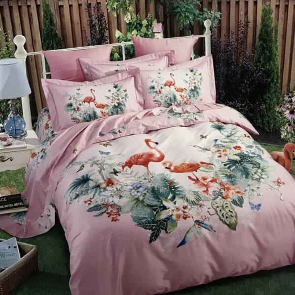 купить Постельное белье сатин 40s принт 92632 Розовый фото