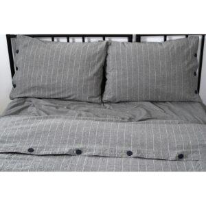 купить Постельное белье Barine Washed cotton - Suit antrasit Серый фото