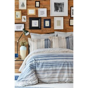 купить Постельное белье Karaca Home ранфорс - Aspen mavi Голубой фото