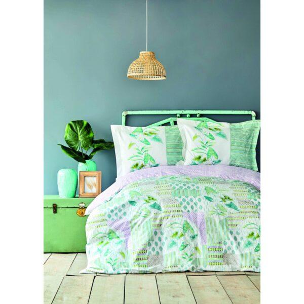 купить Постельное белье Karaca Home ранфорс - Camelia yesil Зеленый фото
