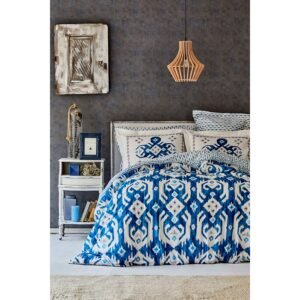 купить Постельное белье Karaca Home ранфорс - Neos mavi Синий фото