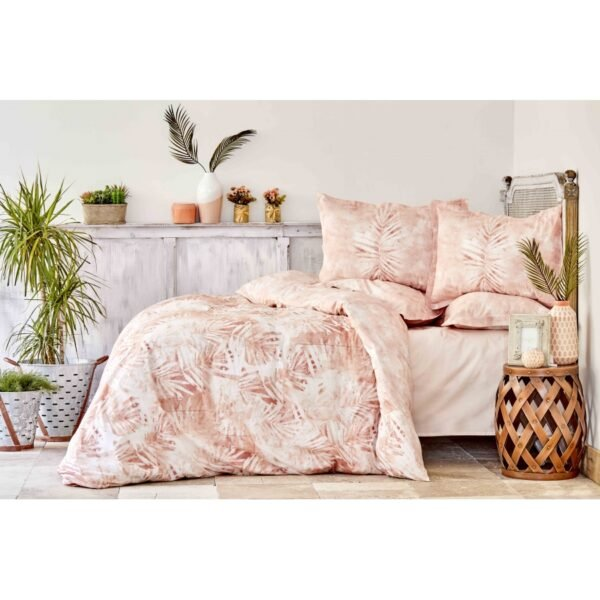 купить Постельное белье Karaca Home сатин - Kaori pudra Розовый фото
