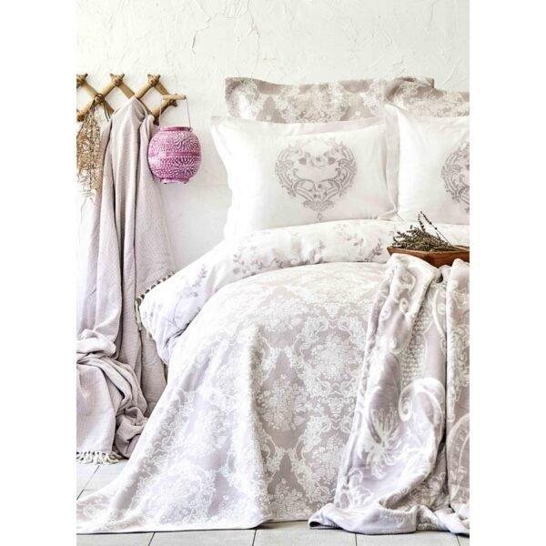 купить Постельное белье Karaca Home сатин - Quatre royal murdum Фиолетовый фото