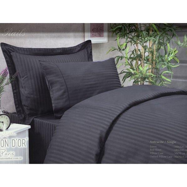 купить Постельное белье Maison Dor - NEW RAILS ANTRACIT Черный фото
