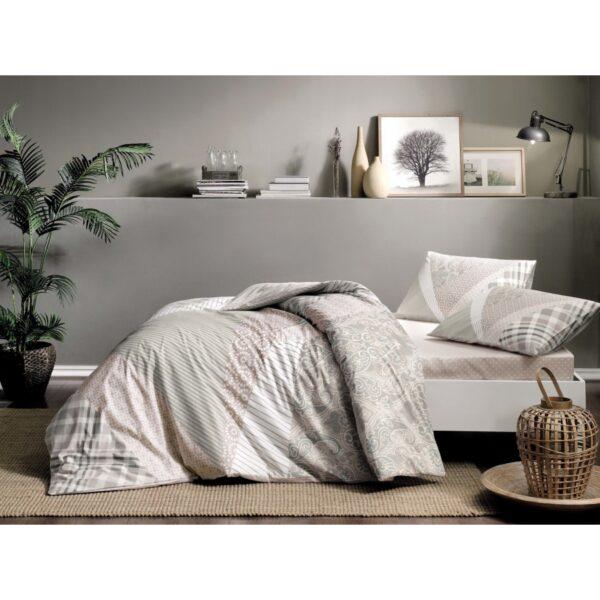 купить Постельное белье TAC ранфорс - Saylor gri v01 Серый фото