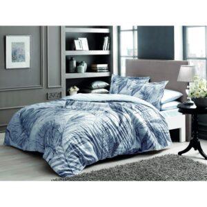 купить Постельное белье TAC сатин Digital - Ciara gri v02 Синий фото