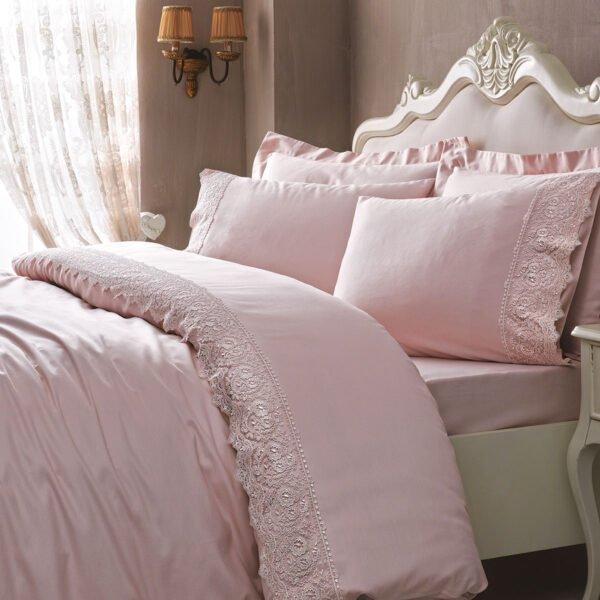 купить Постельное белье TIVOLYO HOME ELEGANT PUDRA Розовый фото