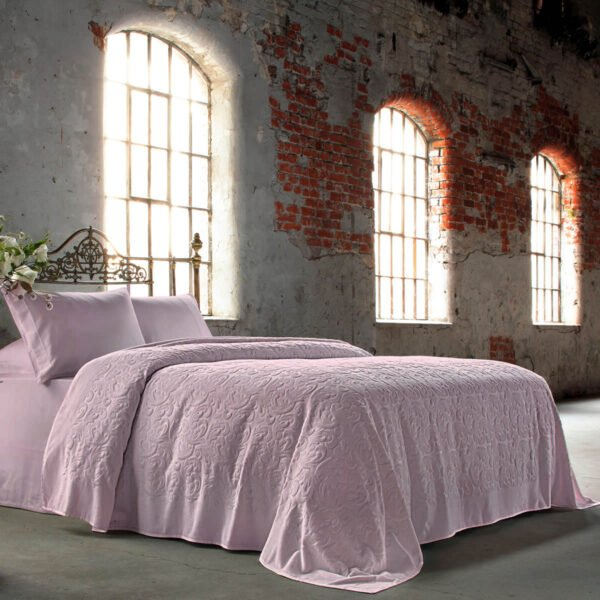 купить Постельное белье Tivolyo Home PIKE BAROC PEMBE Розовый фото