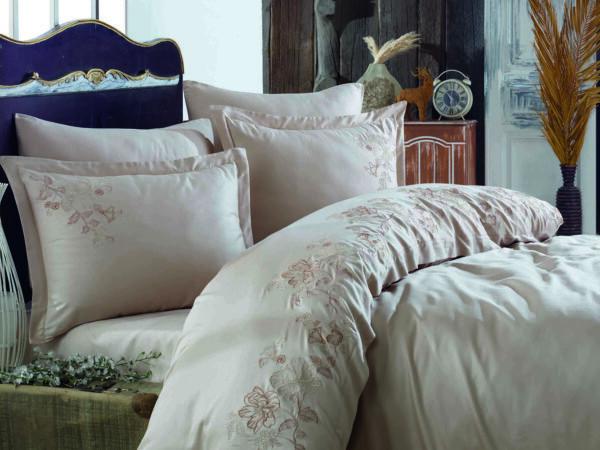 купить Постельное белье cатин делюкс с вышивкой Dantela Vita Allise Розовый фото