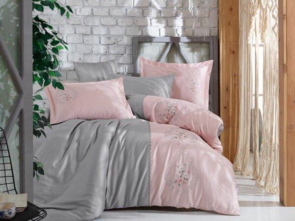 купить Постельное белье Сатин Dantela Vita ISABELLA Розовый фото
