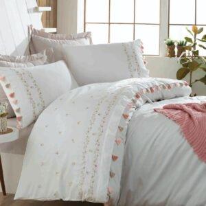 купить Постельное белье cатин делюкс с вышивкой Dantela Vita Royal Белый фото
