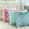 купить Постельное белье cатин делюкс с вышивкой Iris pudra Розовый фото 92372