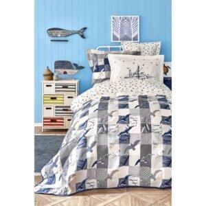 купить Постельное белье с покрывалом Karaca Home - Veta lacivert Синий фото