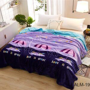 купить Плед-Покрывало TAG велсофт микрофибра ALM1910 Фиолетовый фото
