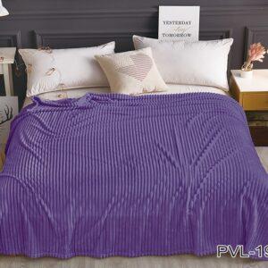 купить Плед-Покрывало TAG велсофт микрофибра ALM1936 Фиолетовый фото