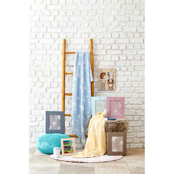 купить Детское покрывало пике Karaca Home - Baby star mavi Голубой фото