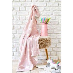 купить Детское покрывало пике Karaca Home - Baby star pembe Розовый фото