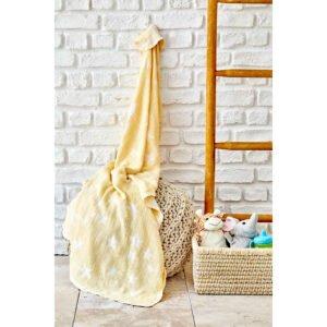 купить Детское покрывало пике Karaca Home - Baby star sari Желтый фото