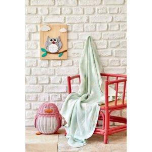 купить Детское покрывало пике Karaca Home - Baby star yesil Зеленый фото