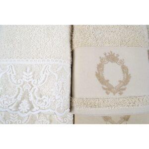 купить Набор полотенец Karaca Home - Silvio offwhite-bej Кремовый|Бежевый фото