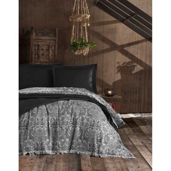 купить Покрывало Eponj Home Naturel - Porto siyah Серый фото