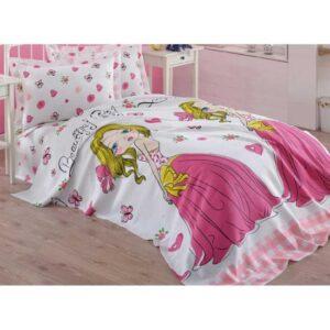 купить Покрывало пике Eponj Home - Beatiful girl beyaz вафельное Розовый фото