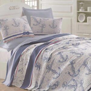 купить Покрывало пике Eponj Home - Capa a.mavi вафельное Голубой фото