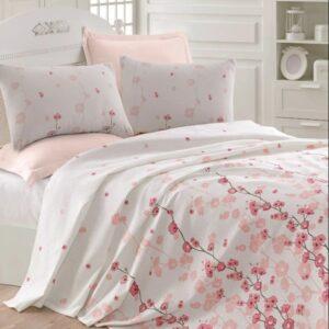 купить Покрывало пике Eponj Home - Coretta a.pembe вафельное Розовый фото