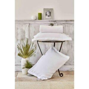 купить Покрывало с наволочками Karaca Home - Charm bold beyaz Белый фото