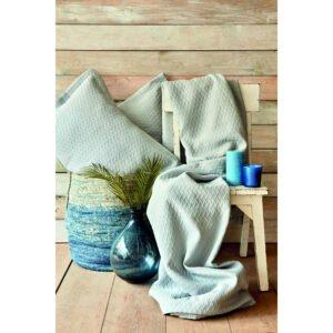 купить Покрывало с наволочками Karaca Home - Charm bold mavi Ментоловый|Голубой фото