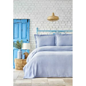 купить Покрывало с наволочками Karaca Home - Stella a.mavi Голубой фото