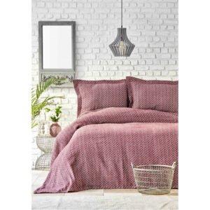 купить Покрывало с наволочками Karaca Home - Stella bordo Бордовый фото