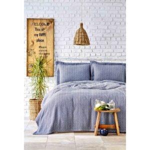 купить Покрывало с наволочками Karaca Home - Stella indigo Синий фото
