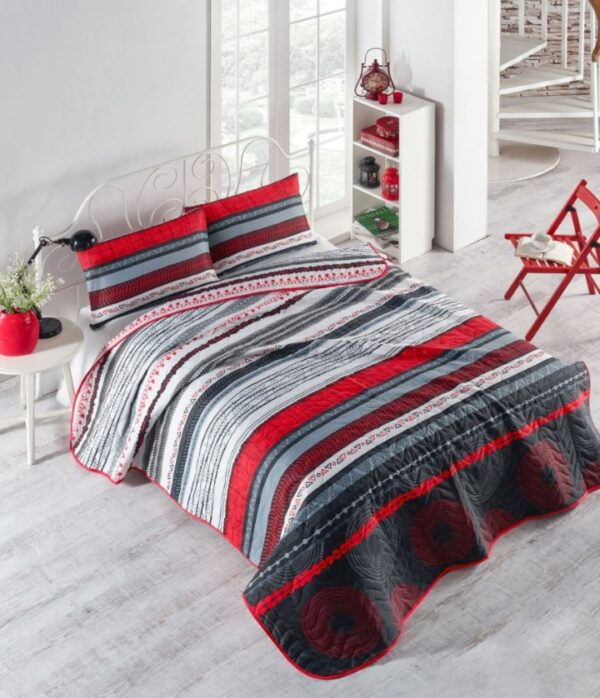 купить Покрывало стеганное с наволочкой Eponj Home - Efried kirmizi Красный фото