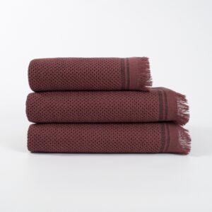 купить Полотенце махровое Buldans - Parga Patara burnt bordo Бордовый фото