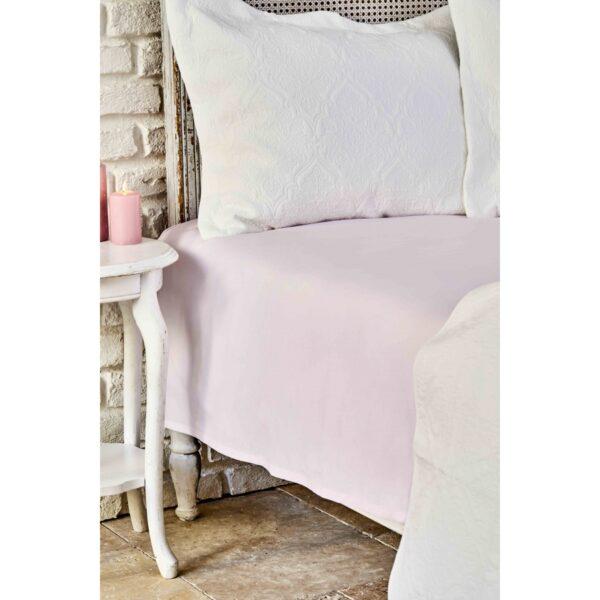 купить Простынь Karaca Home ранфорс - Dreamy pudra Розовый фото