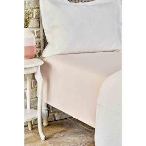 купить Простынь Karaca Home ранфорс - Dreamy somon Розовый фото