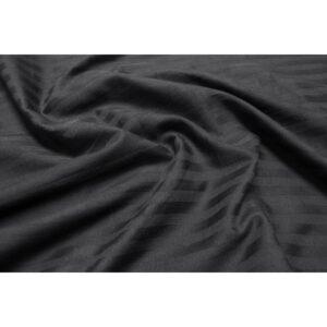 купить Простынь Lotus Отель - Сатин Страйп черный на резинке Черный фото