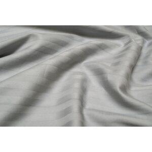 купить Простынь Lotus Отель - Сатин Страйп на резинке Серый Серый фото