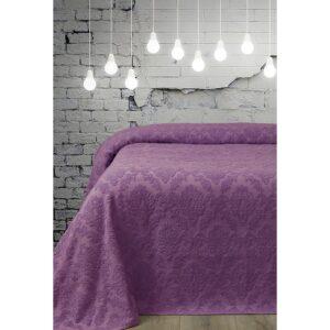 купить Простынь махровая Lotus - Crown маджента Фиолетовый фото