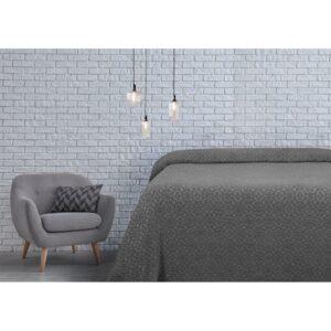 купить Простынь махровая Lotus - Deco антрацит Серый фото