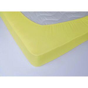 купить Простынь махровая на резинке Lotus - Желтая Желтый фото