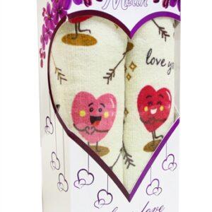 купить Набор полотенец LOVE розовый (2 шт.) в коробке Розовый фото 2