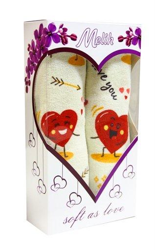 купить Набор полотенец LOVE красный (2 шт.) в коробке Красный фото 2
